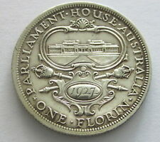 Australia Silver Florin 1927, KM 31, Circulated
