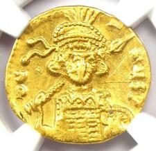 Constantine IV AV Solidus Gold Byzantine Coin 668-685 AD - Certified NGC AU