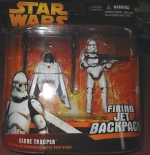 STAR  WARS  CLONE  TROOPER w/FIRING  JET  BACK  PACK yr. Action Figure