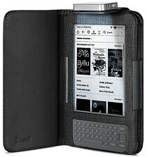 GreatShield for Amazon Kindle 3 Leather Night Time Reading LED Light Folio Case