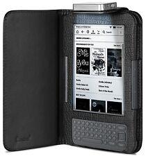GreatShield for Amazon Kindle 3 Leather Night Time Reading LED Light Folio Case