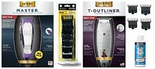 ANDIS COMBO Grape (Purple) Master Clipper/T-Outliner Trimmer/2 Sets of Combs/Oil
