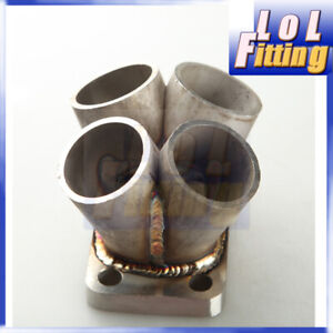 4 Cylinder Turbo Manifold Header Collector T3 T3/T4 Inlet Flange 304 SS