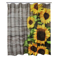 Sunflower Painted Waterproof Shower Curtain Art Bathroom Curtain Home Art Decor