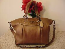 COACH Madison Claire Bronze leather Carryall shoulder bag purse satchel 14334