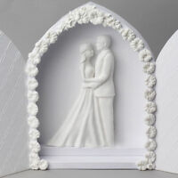Bride and Groom Couples Wedding Silicone Mold Valentine's Day Lovers Cake BIHN