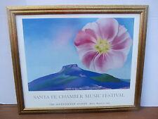 Santa Fe Chamber Music Festival Seventeenth Season 1989 Georgia O'Keeffe Poster