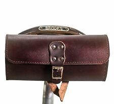 Bicycle Saddle Tool Bag Natural Leather Cheery Brown Perfect For BROOKS saddle