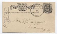 1880 Crestline Ohio fancy cancel (star in circle) on postal card [4117.94]
