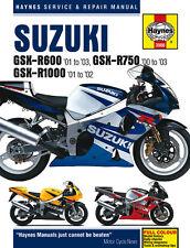 Haynes Manual 3986 - Suzuki GSXR600 (01-03), GSXR750 (00-03) & GSXR1000 (01-02)