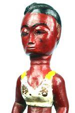 Art Africain - Ancien Lance Pierre Agni Anyi - Femme en Maillot de Bain - 21 Cms