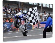 "VALENTINO ROSSI MOTO GP MOTORBIKE CANVAS PICTURE PRINT ART ""BOX FRAME ""a257*"