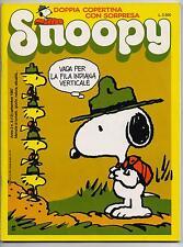 SNOOPY mensile N.9 Rizzoli 1987 peanuts calvin hobbes leo'o pard king kat schulz