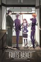 Fruits Basket Promotional Poster Autographed by English Cast Funimation