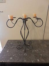 Vintage Homco Metal Tabletop Candle Holder Holds 7 Candles Brown tone color