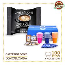 100 Capsule Caffè Borbone Don Carlo Miscela Nera compatibili a Modo Mio + Access