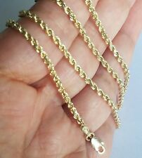 14k yellow gold rope chain 24 inches long 2 mm wide