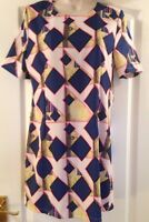 Ribbon size 14 multi print stretch dress
