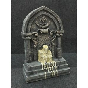 """Grandin Road 168070 Tombstone with Melting Candles Halloween Decor Prop, 24"""" H*"""