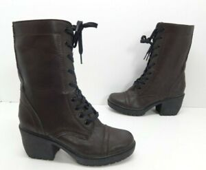 Women's Report Opel Lace Up Combat Boot Brown Size 10 M