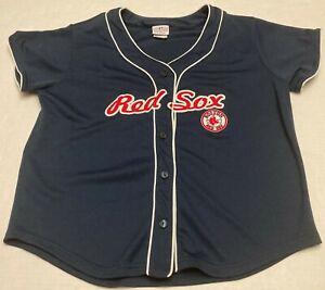 Woman Boston Red Sox Lady Slugger MLB Shirt Size Women Large Sewn On Button Up