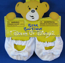 Build-A-Bear WHITE SATIN BALLET SLIPPERS Flats Teddy Size Shoe Accessory