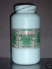 Grape seed extract ~ 200 capsules, anti-aging, antioxidant, protein.Made in USA.