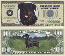 Rottweiler K-9 Dog Collectible Novelty Money Bill #280