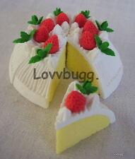 """White Cake 8 pcs Doll Food for 18"""" American Girl  Lovvbugg  Widest Selection"""
