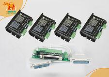 4Axis Digital CNC Stepper Controller 50V/4.2A/128Micro DQ542MA, to Nema23 motor