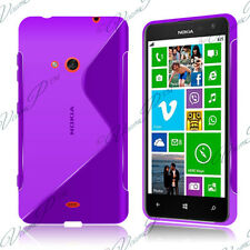 Housses Coque Etui Violet TPU S Silicone GEL Motif S Vague Nokia Lumia 625
