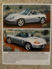 2000 / 2001 Porsche Boxster Roadster Full Color Press Photo Factory Issued RARE