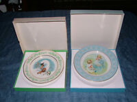 VINTAGE AVON 1975 GENTLE MOMENTS 1974 TENDERNESS PLATES