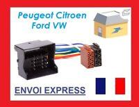 CABLE ISO AUTORADIO PEUGEOT 407 207 NEUF