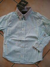 (H637) American Outfitters Boys 2 in 1 Optik Hemd gestreift + Logo Druck gr.104
