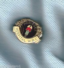 MORISSET  HOSPITAL WOMENS  BOWLING CLUB  LAPEL BADGE, NURSE THEME