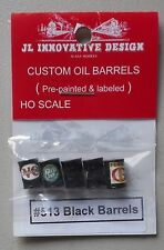 Black Oil Barrels Drums Ho 1:87 Scale Layout Diorama Jl Innovative 513