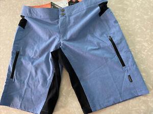 New Club Ride Women's Mountain/Commuter Bike Shorts - REFLECTIVE Blue Size M $99