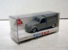 CITROEN 2CV FURGONETA VAN GRIS CLARO LIGHT GREY 1/87 TOYEKO TOY EKO