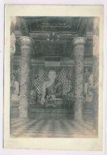 BURMA - RANGOON - Temple Interior - Real Photo - c1933