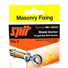 SPIT M8 x 52mm SHIELD ANCHOR RAMBOLT FORGED EYE BOLT HEAVY DUTY FIXING CONCRETE