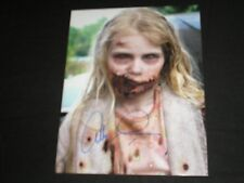 Addy Miller Signed 8x10 Photo Teddy Bear Girl The Walking Dead Autograph C
