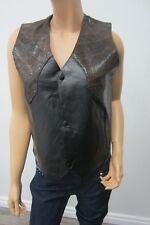 MINT Vintage Navarre Lambskin Leather And Faux Lizard Skin Vest Size Medium