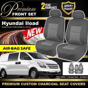 Premium Charcoal Custom SEAT COVERS HYUNDAI ILOAD 2/2008-2018 AIR-BAG I-LOAD