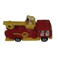 Vintage Aviva Peanuts Snoopy On Fire Truck No C1 1958/1966 Diecast