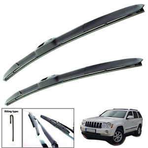 """Fits Jeep Grand Cherokee 2005-2010 Hybrid Wiper Blades Set Of Front 21""""21"""""""