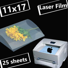 11 x 17,Screen Printing Plate Making Transparency Laser Film Quick Dry,25 sheets