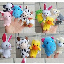 Funny 10X Farm Zoo Animal Doigt Marionnettes Jouets Garçons Filles Babys Sac Fête Remplisseur