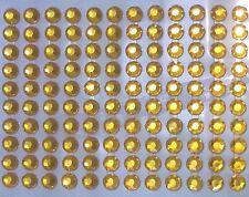 80 STRASS ADESIVI COLORE GIALLO AMBRA 8 mm CORPO UNGHIE NAILART DECORAZIONI