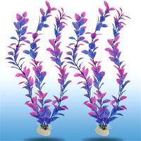 2X Aquarium Plastic Grass Water Plants Landscaping Ornament Fish Tank Decoration
